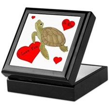 Personalized Turtle Keepsake Box