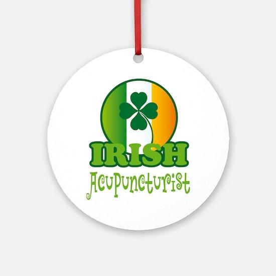 Irish Acupuncturist St Patricks Ornament (Round)