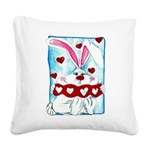 HoneyBUNNY.png Square Canvas Pillow