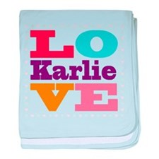 I Love Karlie baby blanket