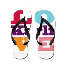 I Love Karli Flip Flops