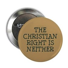 "The Christian Right is neither 2.25"" Button"