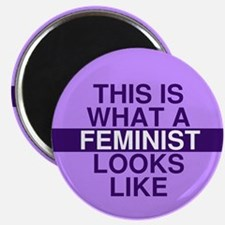 "This is what a feminist looks like 2.25"" Magnet (1"