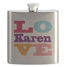 I Love Karen Flask