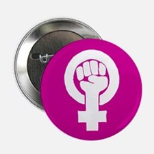 "Pink feminist symbol 2.25"" Button"