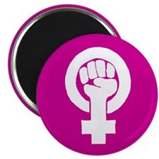 "Pink feminist symbol 2.25"" Magnet (10 pack)"