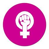 Feminism Round Car Magnets