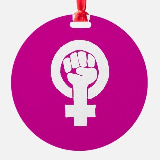 Pink feminist symbol Ornament