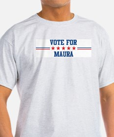 Vote for MAURA Ash Grey T-Shirt