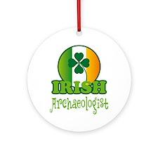 Irish Archaeologist St Patricks Ornament (Round)