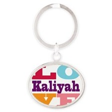 I Love Kaliyah Oval Keychain