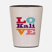 I Love Kali Shot Glass