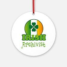 Irish Archivist St Patricks Ornament (Round)