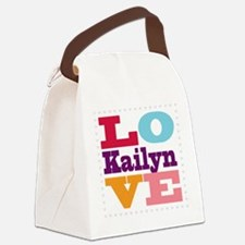 I Love Kailyn Canvas Lunch Bag