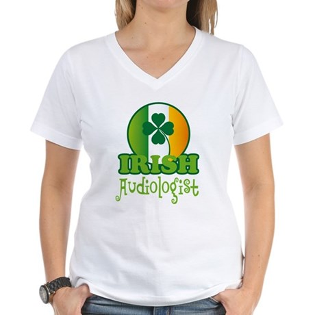 Irish Audiologist St Patricks Women's V-Neck T-Shi