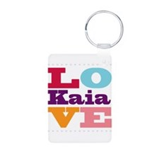 I Love Kaia Aluminum Photo Keychain