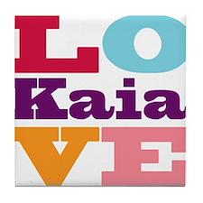 I Love Kaia Tile Coaster