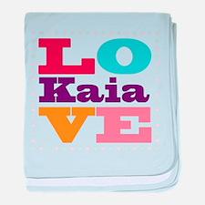 I Love Kaia baby blanket