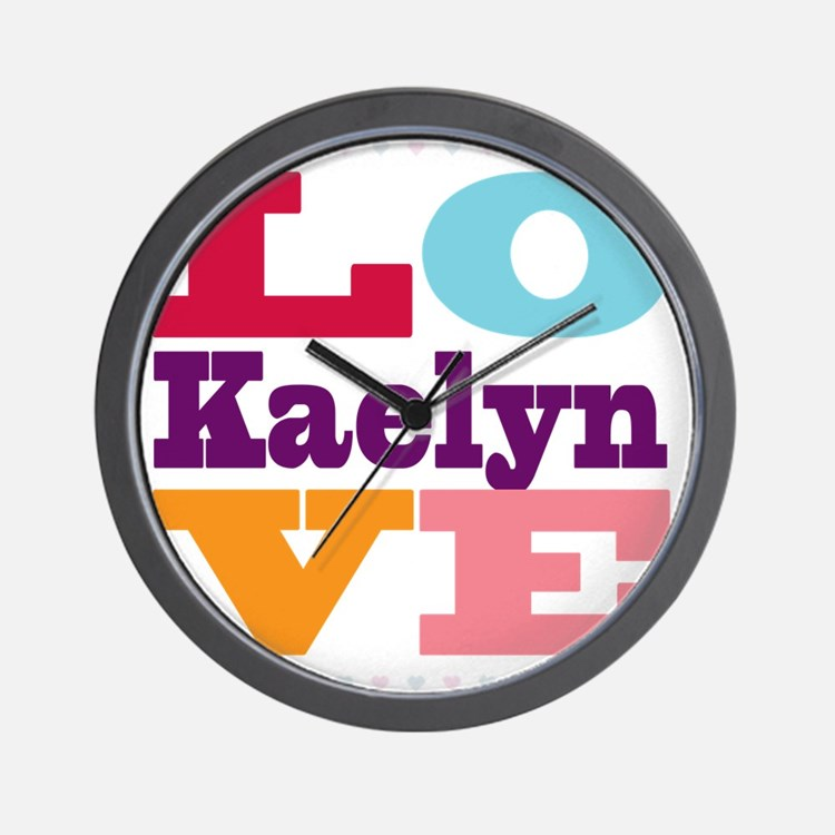 I Love Kaelyn Wall Clock