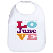 I Love June Bib