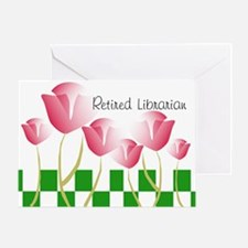 Retired Librarian Pillow 2 Greeting Card