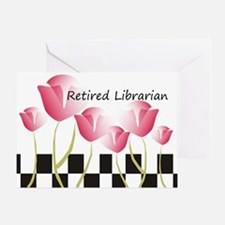 Retired Librarian Pillow 1 Greeting Card