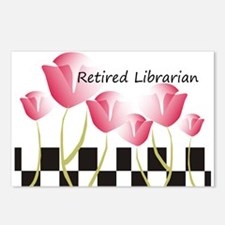 Retired Librarian Pillow 1 Postcards (Package of 8