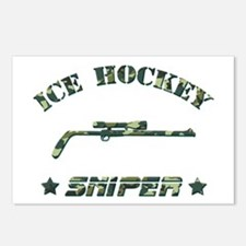 Ice Hockey Sniper (green camo) Postcards (Package