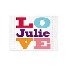 I Love Julie 5'x7'Area Rug