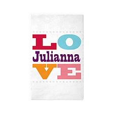 I Love Julianna 3'x5' Area Rug