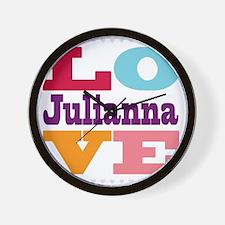 I Love Julianna Wall Clock