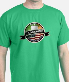 2x Awesome Irish American T-Shirt