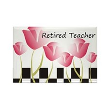 Retired Teacher Pillow 1 Rectangle Magnet