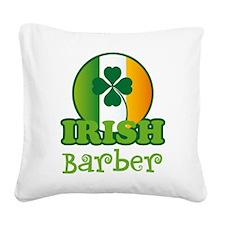 Irish Barber St Patricks Square Canvas Pillow