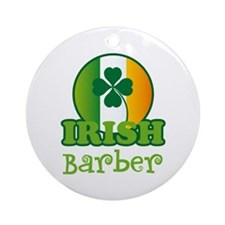 Irish Barber St Patricks Ornament (Round)