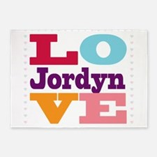 I Love Jordyn 5'x7'Area Rug