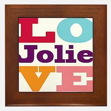 I Love Jolie Framed Tile