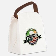 2x Awesome Irish American Canvas Lunch Bag