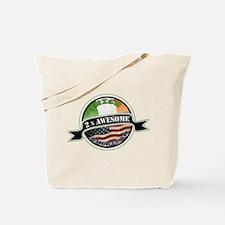 2x Awesome Irish American Tote Bag