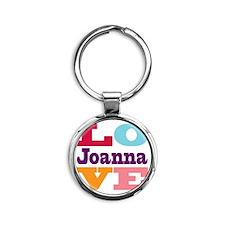 I Love Joanna Round Keychain