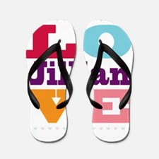 I Love Jillian Flip Flops