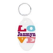 I Love Jazmyn Keychains