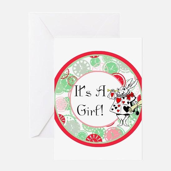 Its A Girl Maternity Milestone Greeting Card