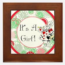 Its A Girl Maternity Milestone Framed Tile