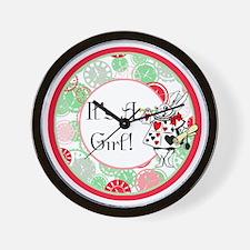 Its A Girl Maternity Milestone Wall Clock