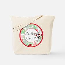 Its A Girl Maternity Milestone Tote Bag