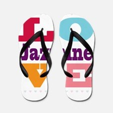 I Love Jazmine Flip Flops