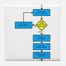 Hokey Pokey Flow Chart Funny T-Shirt Tile Coaster