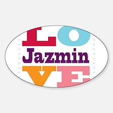 I Love Jazmin Decal