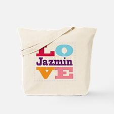 I Love Jazmin Tote Bag